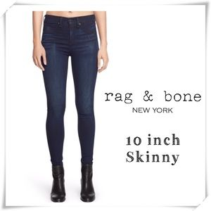 Rag and Bone 10 inch Skinny Jeans High Rise